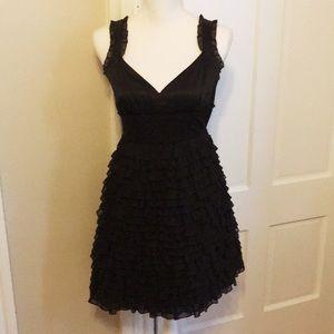 Black Kensie Ruffled Dress
